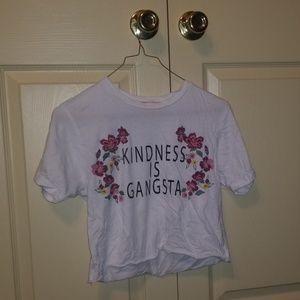 Tops - Kindness is gangsta crop top